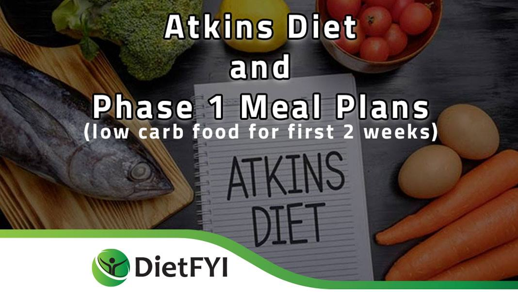 Atkins Diet and Phase 1 Meal Plans