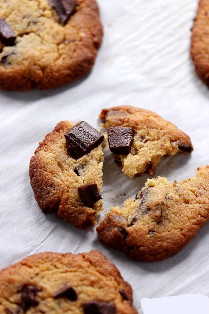 1. Chewy keto chocolate chip cookies