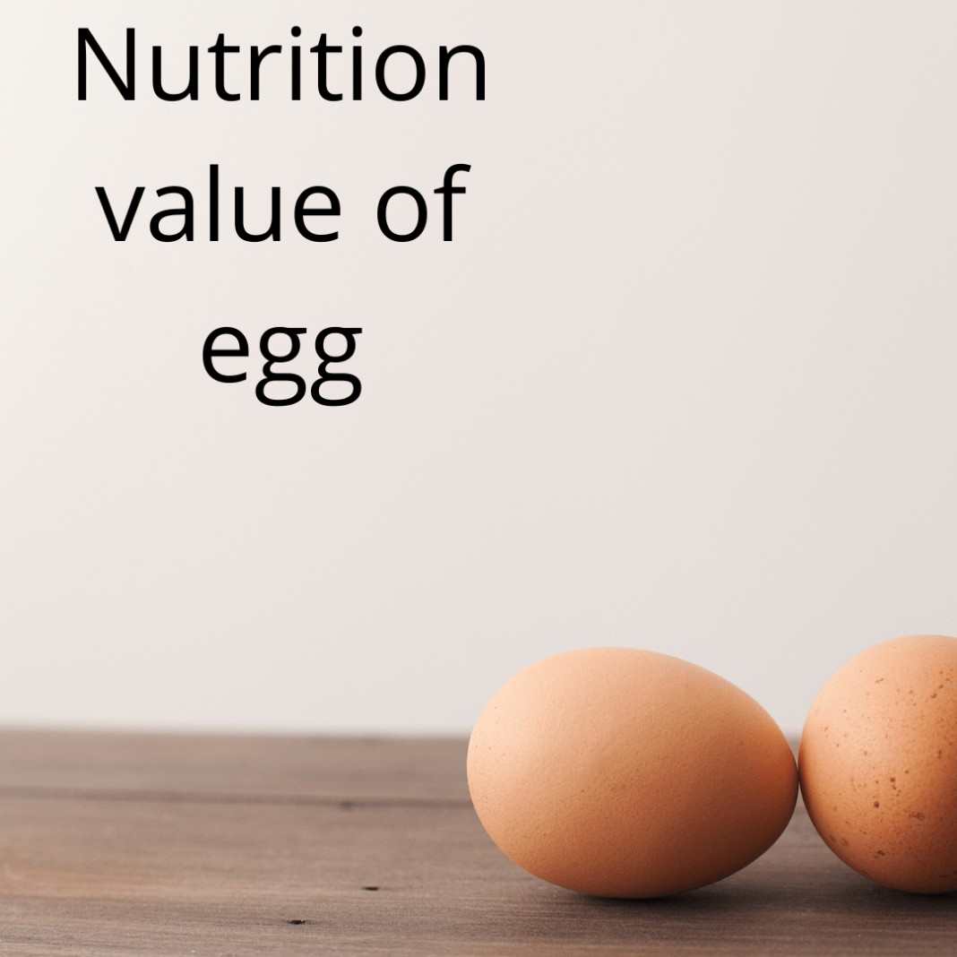 Nutrition value of an egg